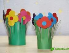 Цветы из бумаги к 8 марта для детей и их родителей