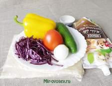 Овощной салат в лаваше