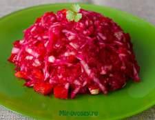 Зимний салат из сырых овощей